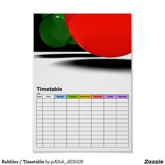 Bubbles / #Timetable Poster