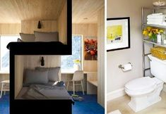 viraI: 22 Space-Saving Ideas to Make Any Small Apartment Feel Cozier Small Apartment Bedrooms, Small Apartments, Small Spaces, Apartment Ideas, Compact Bathroom, Multifunctional Furniture, Murphy Bed, Space Saving, Storage Spaces