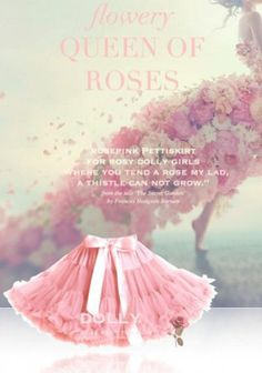 Pettiskirt Dolly Queen of Roses by Le Petit Tom Ballet Bag, Ballet Fashion, Chiffon Skirt, Garden S, Satin Bows, Kids Wear, Children Wear, Pink Roses, Kids Fashion