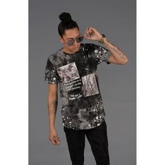 Splattered Iconic Angel Graphic T-Shirt CMYK Print Cotton Color: Black Made In: United States Shipped From: United States Lead Time: 3 - 4 Days New York Fashion Week 2017, New Years Eve Dresses, Suits For Women, World Of Fashion, Sequin Skirt, Tees, Casual, Mens Tops, Cotton
