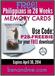 FREE Scripture Memory Tool for Philippians! #Bible #homeschool