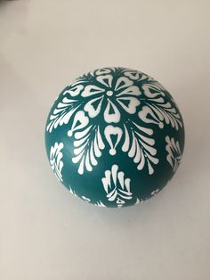 Items similar to Unique original hand painted and hand decorated teal wooden decorative ball / cm on Etsy Eastern Eggs, Polish Easter, Easter Egg Designs, Ukrainian Easter Eggs, Shops, Jingle All The Way, Egg Decorating, Holiday Activities, Dot Painting
