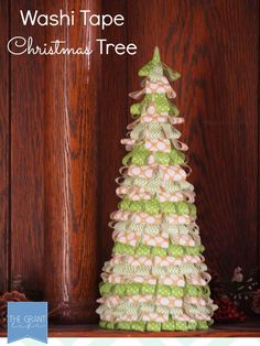 Washi Tape Christmas Tree.  Easy and festive #craft for #Christmas!
