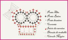 Crochet skull motif or applique! - Crochet / knit / stitch charts and graphs Granny Square Crochet Pattern, Crochet Diagram, Crochet Motif, Crochet Stitches, Crochet Appliques, Crochet Stars, Crochet Wool, Crochet Skull Patterns, Crochet Hair Clips