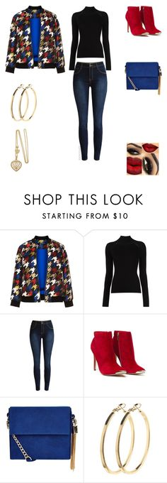 """""""Blue, Black, Red & Gold"""" by irockcrowns ❤ liked on Polyvore featuring Manon Baptiste, Misha Nonoo, New Look and Pieces"""