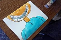 """Personal narrative - """"First Lost Tooth"""" writing with a """"big grin"""" painting!"""