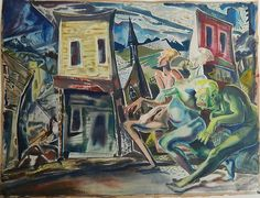 Paul B. Travis (American 1891-1975)- ''Nightmare on Bodie, CA', 1945