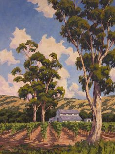 "Napa Vineyard for instructional book by Walter Foster Publishing 40"" x 30"""