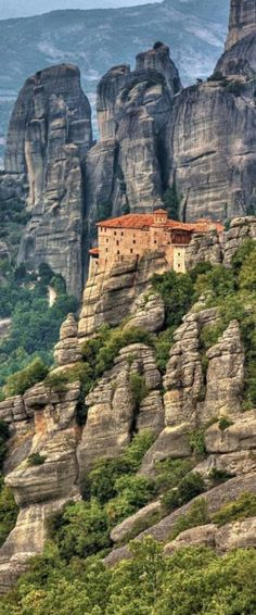 Meteora, Greece One of the most magical places I have ever been. Spent our first weekend in Greece here. Places Around The World, Oh The Places You'll Go, Travel Around The World, Places To Travel, Places To Visit, Around The Worlds, Cruise Greek Islands, Greek Cruise, Wonderful Places
