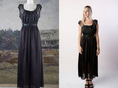 vintage 40's maxi slip with lace lingerie by foxandfawns, $52.00
