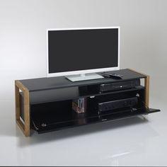 meuble tv porte abattante compo - Meuble Tv Blanc Glossy
