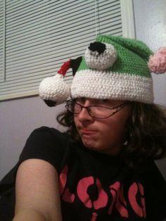 Zombie Santa Hat crochet pattern
