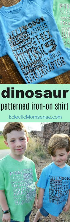DIY Custom Dinosaur T-Shirt with #Cricut Patterned Iron-On™️. #ad #CricutStrongBond #CricutMade Diy Crafts To Sell, Diy Crafts For Kids, Fun Crafts, Geek Crafts, Sell Diy, Kids Diy, Decor Crafts, Diy House Projects, Cool Diy Projects