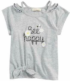 6f64de1bb15a Truly Me Be Happy Embellished Tee (Toddler Girls   Little Girls)