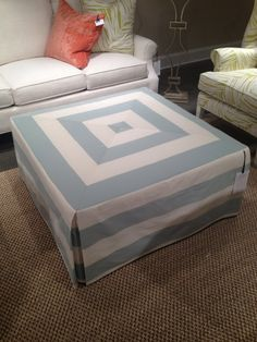 An Ottoman how to reupholster an ottoman | ottomans, upholstery and craft