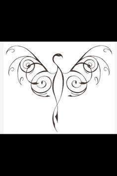 Phoenix tattoo --- in white ink on my left wrist!