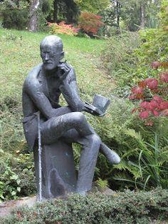 James Joyce in Fluntern Cemetery, Zurich Cemetery Headstones, Old Cemeteries, Cemetery Art, Shadow Of The Almighty, Under The Shadow, James Joyce, Memento Mori, Zurich, Garden Sculpture