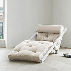 {figo lounge chair in natural} by fresh futon. loft bedding possibility.