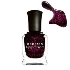 Deborah Lippmann Bad Romance is a luxurious deep fuchsia polish infused with glitter.