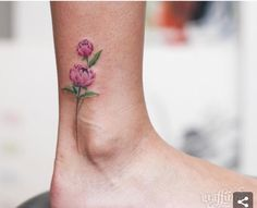 Tiny ankle tattoo.