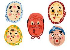 Character Concept, Character Art, Character Design, Graphic Design Illustration, Graphic Illustration, Matchbox Art, Japanese Folklore, Japanese Artwork, Japanese Graphic Design