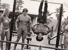 Arnold Schwarzenegger and Franco Columbo