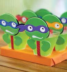 Copinhos gelatina tartaruga ninja