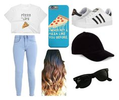"""Pizza Party!"" by nsonderegger on Polyvore featuring adidas, Le Amonie and Ray-Ban"