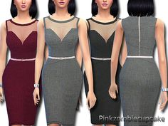 Day at the office dress by Pinkzombiecupcakes at TSR via Sims 4 Updates