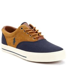 ab2da0e1a71 Polo Ralph Lauren Vaughn Saddle Sneakers Men s Shoes A preppy classic with  all the right detailing. Lace up signature style with ease in these saddle  ...