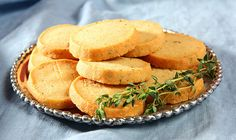 Savory Parmesan and Thyme Crackers by Kirsten| My Kitchen in the Rockies