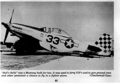 """33"" ""Hells Bells"" a 2 seat P-51D of 325th FG"