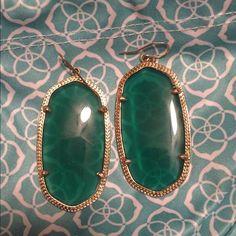 Danielle Green Kendra Scott Earrings Danielle Green Earrings - barely worn! Come with bag and backs. Kendra Scott Jewelry Earrings