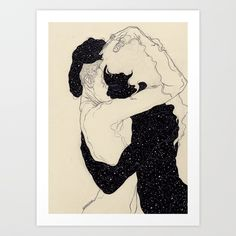 You Are The Theory In My Head Art Print by Kaethe Butcher   Society6