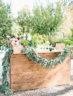 Spring Wedding Drink Station Inspiration