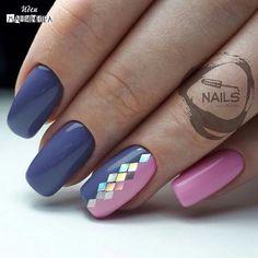 and Beautiful Nail Art Designs Beautiful Nail Designs, Beautiful Nail Art, Gorgeous Nails, Nail Polish Designs, Nail Art Designs, Blue Nails, My Nails, Trendy Nail Art, Manicure E Pedicure