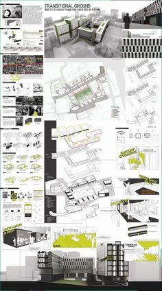 architecture portfolio cover page design ideas Presentation Board Design, Architecture Presentation Board, Architectural Presentation, Architectural Models, Architectural Drawings, Architecture Panel, Architecture Images, Architecture Diagrams, Planer Layout