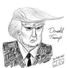 Donald Trump - for Presidents' Day #donaldtrump #presidentsday #presidenttrump #uspresident #caricature #sketch #digitalart #artstagram #instaart #instagood #instagram #drawing #illustration #doodle