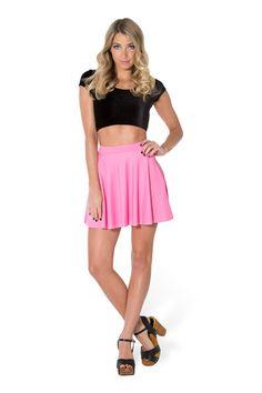 Matte Pink Pocket Skater Skirt › Black Milk Clothing