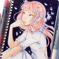 Secrets Of Drawing Realistic Pencil Portraits - Discover The Secrets Of Drawing Realistic Pencil Portraits Copic Drawings, Kpop Drawings, Anime Drawings Sketches, Anime Sketch, Manga Drawing, Manga Art, Cute Drawings, Marker Drawings, Arte Copic