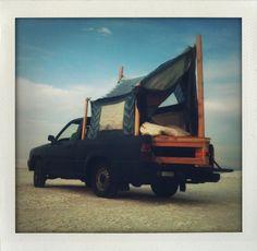 my friend's truck + tent