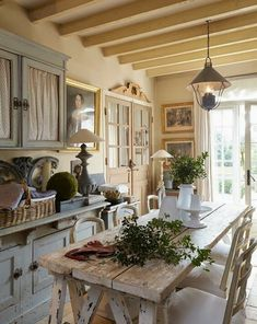 99+ simple french country dining room decor ideas (18)