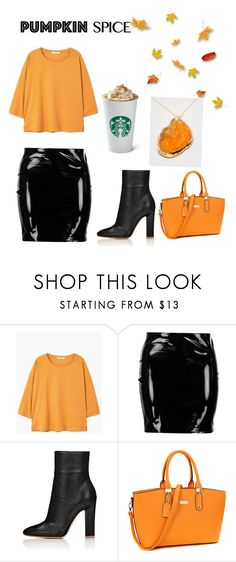 """""""Pumpkin spice"""" by gabriella-hellgren ❤ liked on Polyvore featuring MANGO, Boohoo and ZooShoo"""