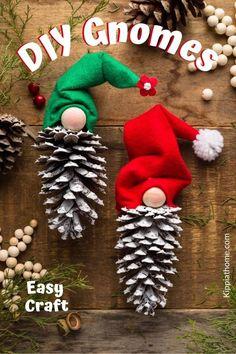 Easy Handmade Ornaments - Gnomes