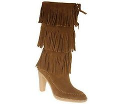 MICHAEL Michael Kors Fringed Suede Cowgirl Boots