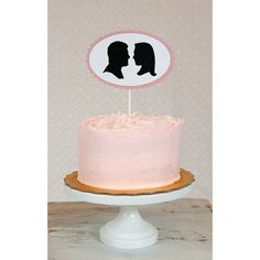 Custom Silhouette Wedding Cake Topper from @Simply  Silhouettes