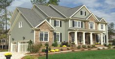 black shutter, side color, exterior houses, garag, decor project, hous side, house siding, siding colors, decor idea