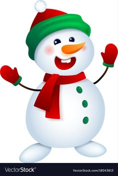 Christmas snowman snowman vector image on VectorStock Christmas Graphics, Christmas Clipart, Christmas Games, Christmas Colors, Christmas Snowman, Christmas And New Year, Christmas Crafts, Merry Christmas, Christmas Decorations