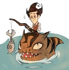 """Don't Stave Sharkitten Source Notes: owlsniper: """" why use a boat when you can have a cool tiger shark for a friend """""""