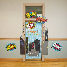 Superhero Door Decoration Idea - OrientalTrading.com